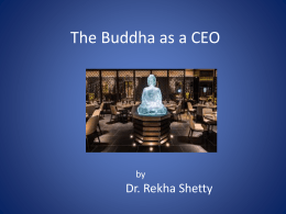 The Buddha as a CEO