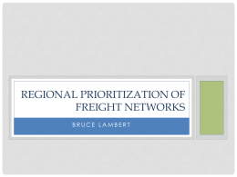 Regional Prioritization of Freight Networks