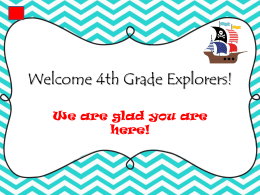 4th Grade Curriculum Night - Katy Independent School District