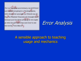 Error analysis presentation