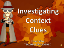 Introduce Context Clues