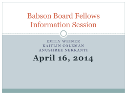 Launching a Board Fellows Program at Babson
