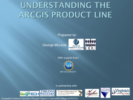 Understanding the ARCGIS product line