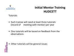 MTP-A3-Subject Specialist Mentor Training Processes