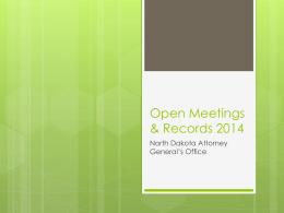 Open Records & Meetings 2014