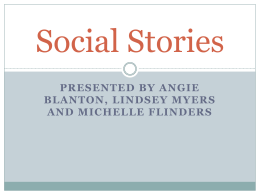 Social Stories Powerpoint - Montgomery County Schools