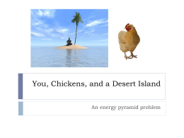 You, Chickens, and a Desert Island