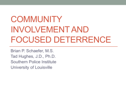 Community Involvement PPT