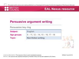 Persuasion key ring  - EAL Nexus