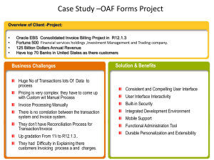 Case Study *OAF Forms Project