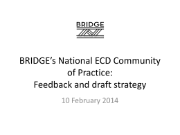 Barbara Dale-Jones - Update on ECD CoP Strategy Pres