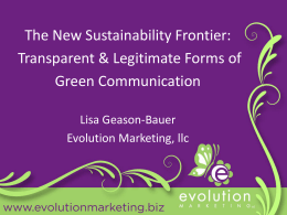 PowerPoint Presentation - Green Marketing & Social Responsibility