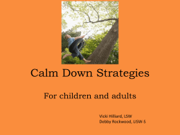 Calm Down Strategies - Lancaster City Schools