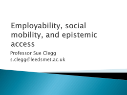 Employability, social mobility, and epistemic access