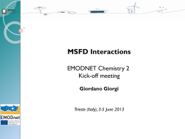 MSFD Interactions