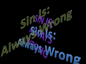 Sin Is Always Wrong - Simple Bible Studies