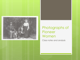 Photographs of Pioneer Women - 11ENG-HT