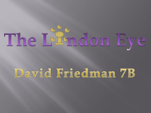 David Friedman 7B- the london eye