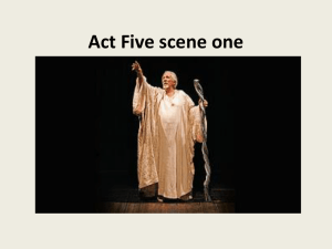Act Five scene one