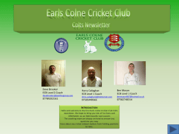 here - Earls Colne Cricket Club