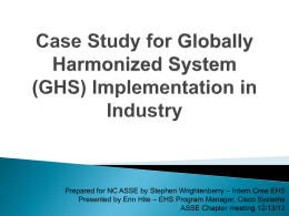 Case Study on GHS Implementation in Industry
