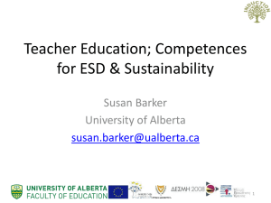 Teacher Education and Sustainability