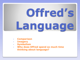 Offred`s language power point