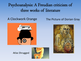 Psychoanalysis Power Point Presentation