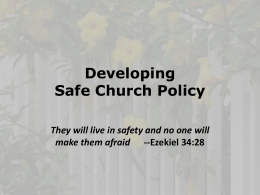 Safe Church Policy