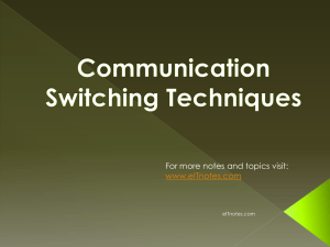 Communication Switching Techniques