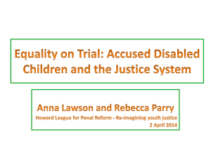 Equality on Trial: Accused Disabled Children and the Justice System
