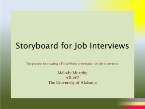Storyboard for Job Interviews