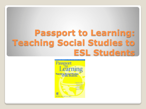 Passport to Learning: Teaching Social Studies to ESL