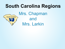 South Carolina Regions Power Point