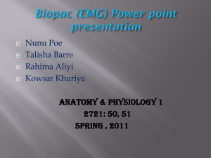 Biopac EMG Power point presentation