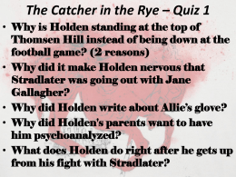 The Catcher in the Rye - Whitehead13-14