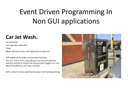 Event Driven Programming In Non GUI applications