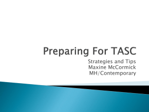 Preparing For TASC - Your Contemporary Rep Maxine McCormick