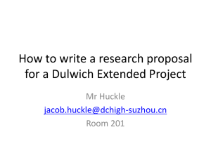 How to write a research proposal for an Extended Project