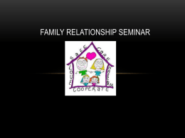 Family Relationship Seminar-youth