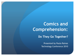 Comics and Comprehension .ppt