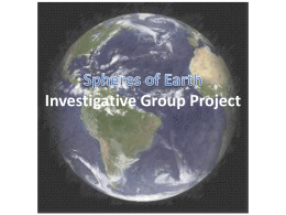 Spheres of Earth Project - CPS-NASA