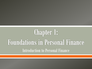 Introduction to Personal Finance