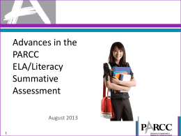 PARCC ELA Sample Items Overview PPT