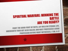 Winning the Battle: Are You Ready