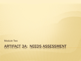 Artifact 3A Needs Assessment