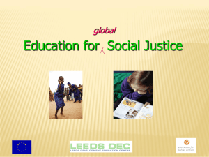 PowerPoint Presentation - EDUCATION for SOCIAL JUSTICE