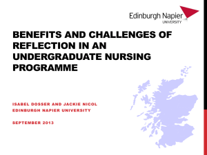 Benefits and Challenges of Reflection in an Undergraduate Nursing