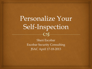 Personalize Your Self-Inspection - jsac