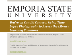 Using Time Lapse Photography to Assess the Library